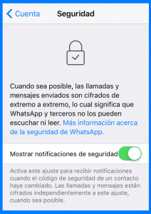 seguridad en whatsapp