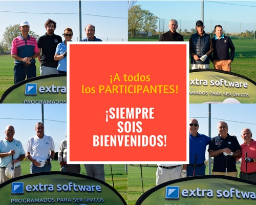 bienvenida torneo golf extra software