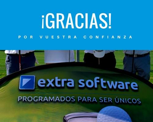Agradecimiento torneo de golf extra software